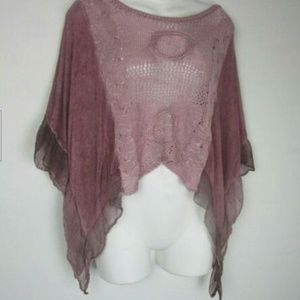 Made In Italy - Stretch Knit Kimono Blouse